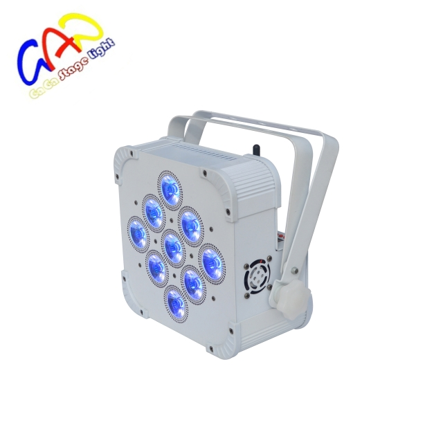 Alimentato a batteria 9x18 w 6 in 1 RGBWA UV Led wireless uplight per evento
