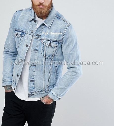 Denim Trucker Jacket Dollaro Arrotolato