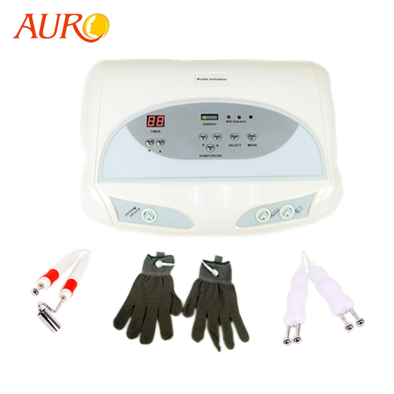2019 AURO New Young Skin Miracle Bio Skin Facial Rejuvenation Wrinkle Removal Wave Microcurrent Lifting Facial Beauty Machine фото