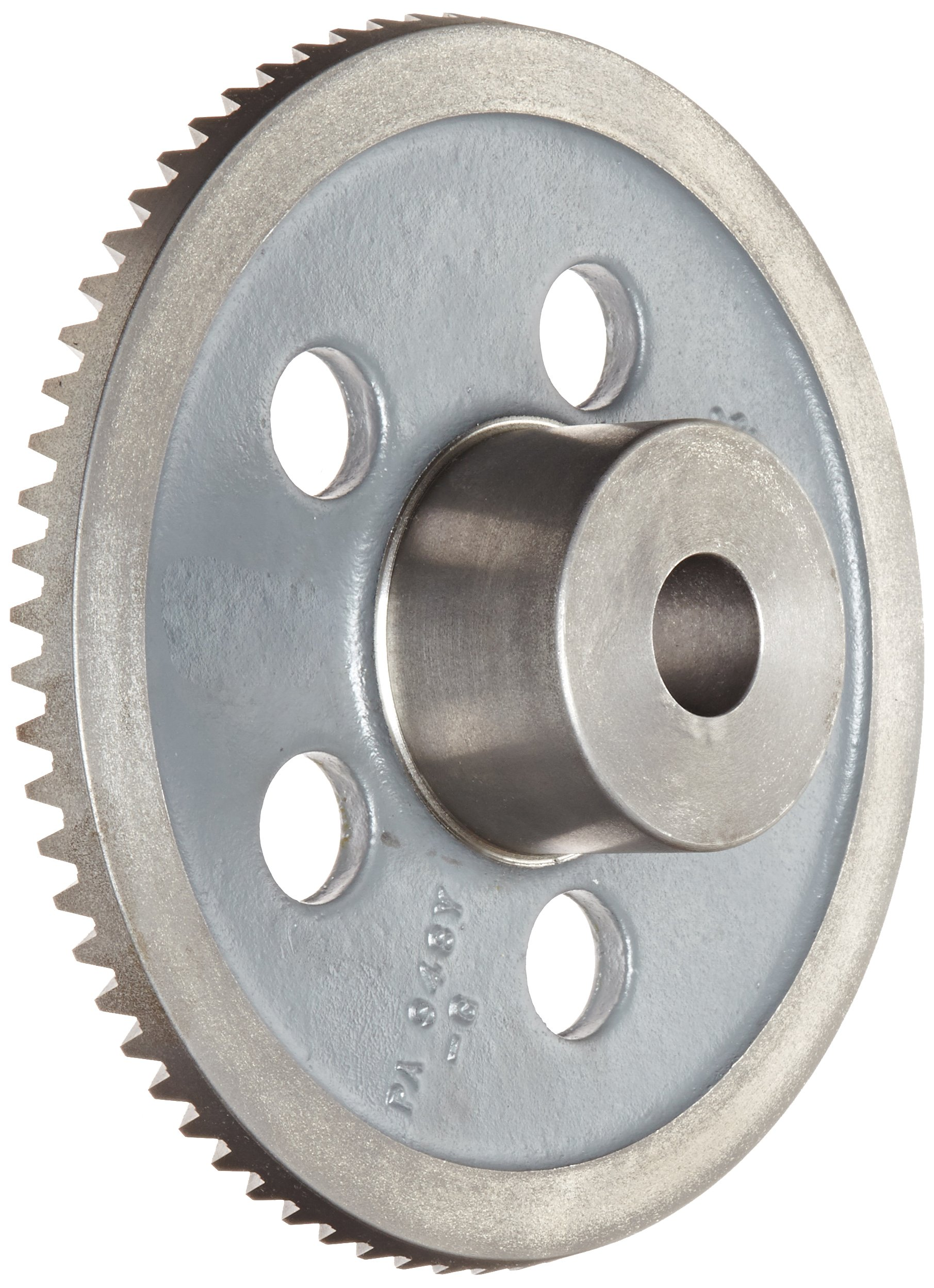 "Boston Gear PA948Y-G Bevel Gear, 4:1 Ratio, 1.125"" Bore, 8 Pitch, 72 Teeth, 20 Degree Pressure Angle, Straight Bevel, Cast Iron"