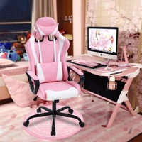 New Style Ergonomic Bedroom Pink Computer Gaming Chair Cheap Office Racing Chair