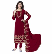 2017 Casual Party Wear Salwar kameez / Latest Georgette Salwar Suit With Zari Embroidery Work /Wedding Wear (salwar kameez)
