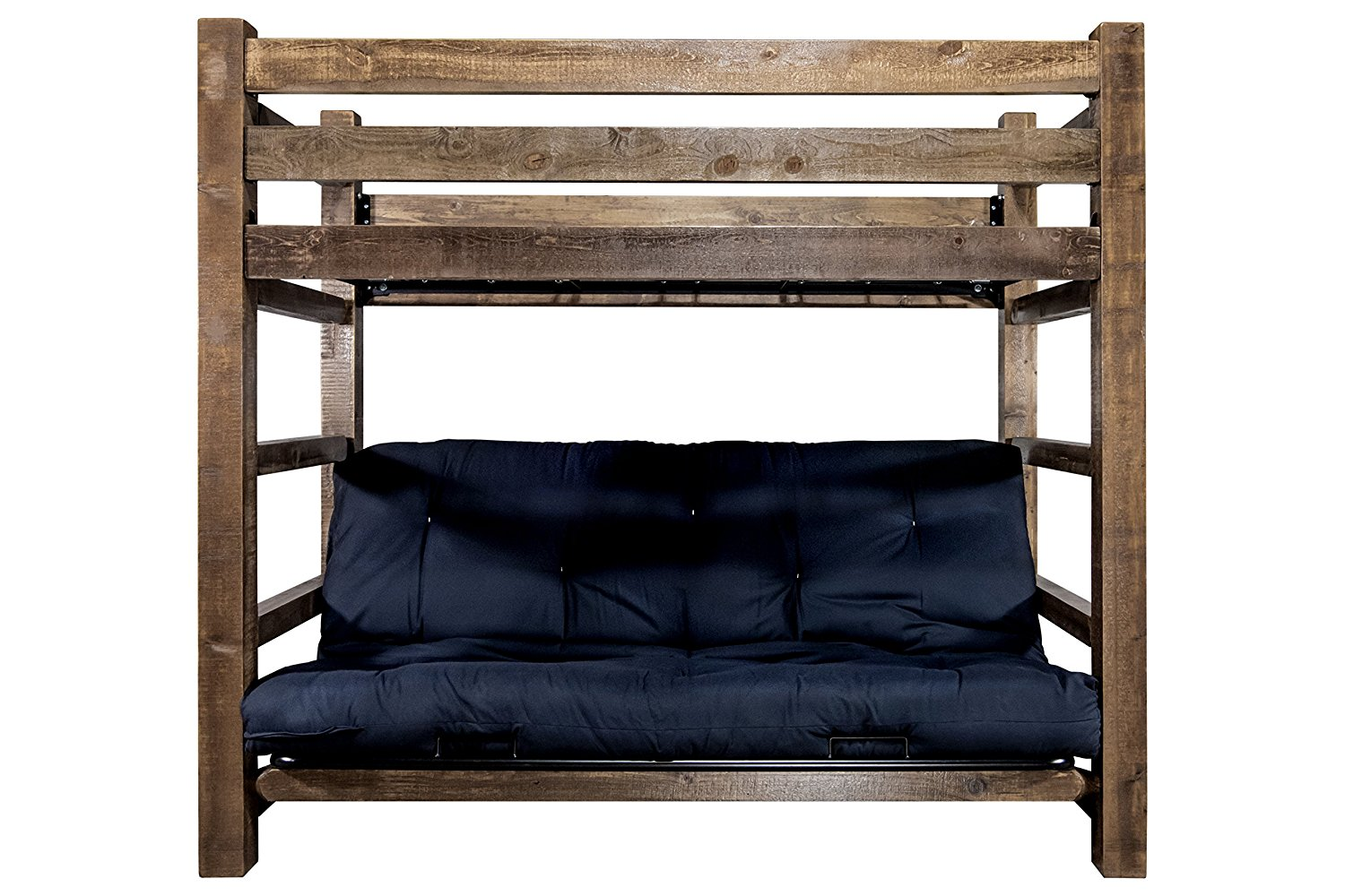Get Quotations Montana Woodworks Mwhctwfmrsl Homestead Collection Bunk Bed Over Full Futon Frame With Mattress Twin