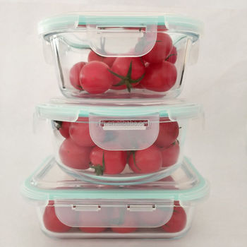 Reusable BPA Free oven safe food storage containers With Factory