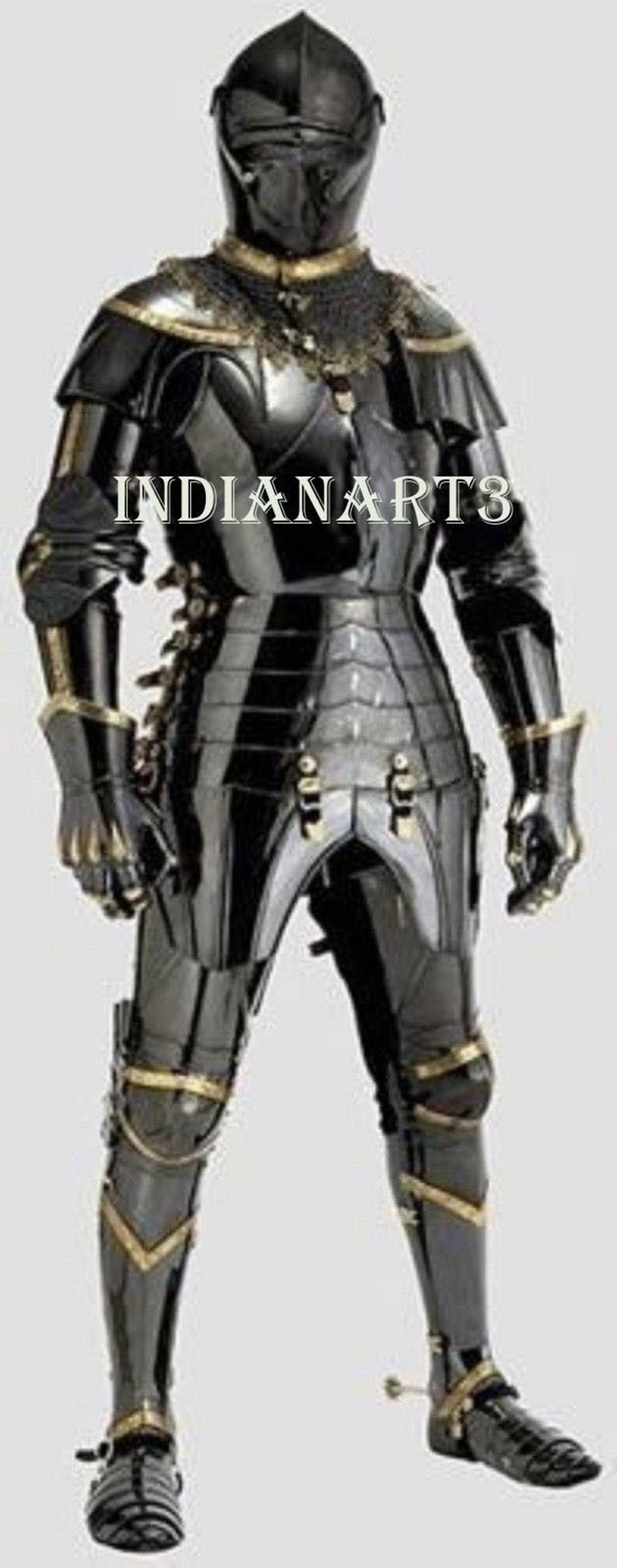 Combat Full Body Armour Black Knight Wearable Middeleeuwse Ridder Harnas