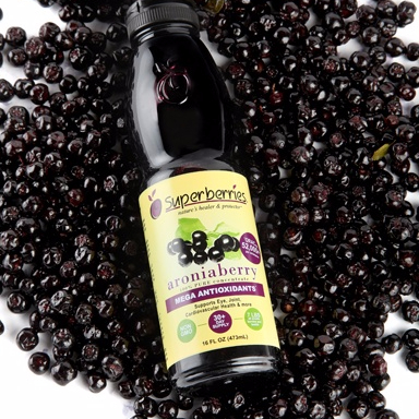 Black Chokeberry Extract: Vitamin C 5% By CP2000; Anthocyanidin 1% ~ 25% By UV.