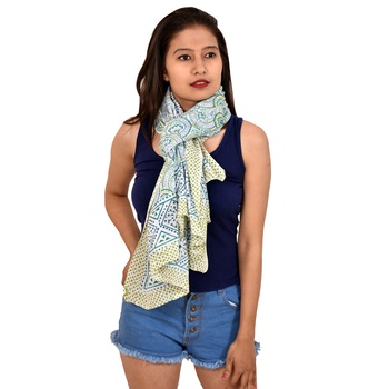 Hand printed sarong beautiful cotton scarfs wholesale