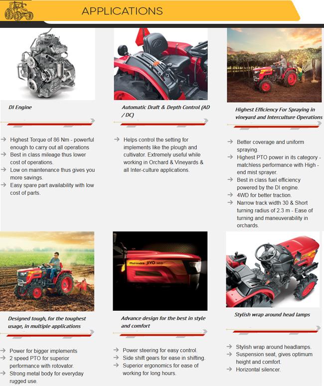 Best Quality Mahindra Jivo 245 DI 4WD Farming Tractor, View Farming  Tractor, Mahindra Product Details from SHIVA ENTERPRISE on Alibaba com