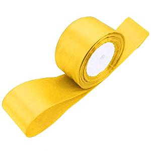 TOOGOO(R) 1 roll (25 yards/roll) 2'' (50mm) single face Satin Ribbon Webbing Decoration Gift Christmas Ribbons(yellow)