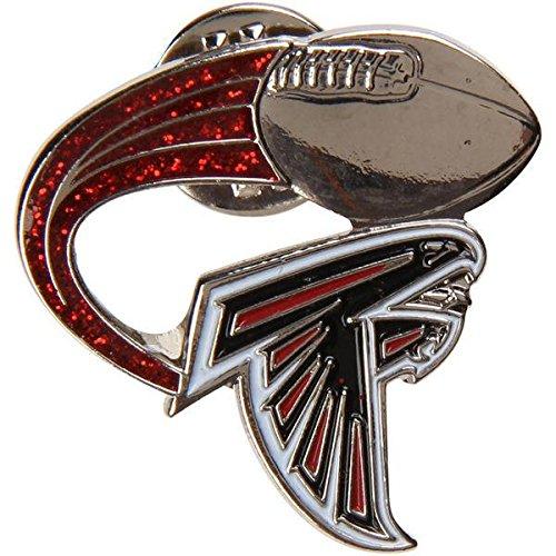 Atlanta Falcons Lapel Pin Glitter Trail Design NFL Licensed
