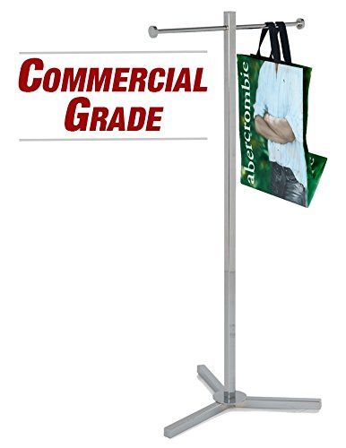 Econoco Rack For Retail Store – Heavy Duty Shopping Bag Rack, Retail Store Display Rack, Chrome Trade Show Rack, Display Rack for Store