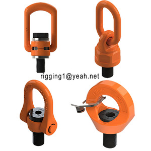 Chinese rigging hardware swivel eye bolts lifting points/rotating swivel/m24 bolt torque swivel hoist ring for lifting equipment