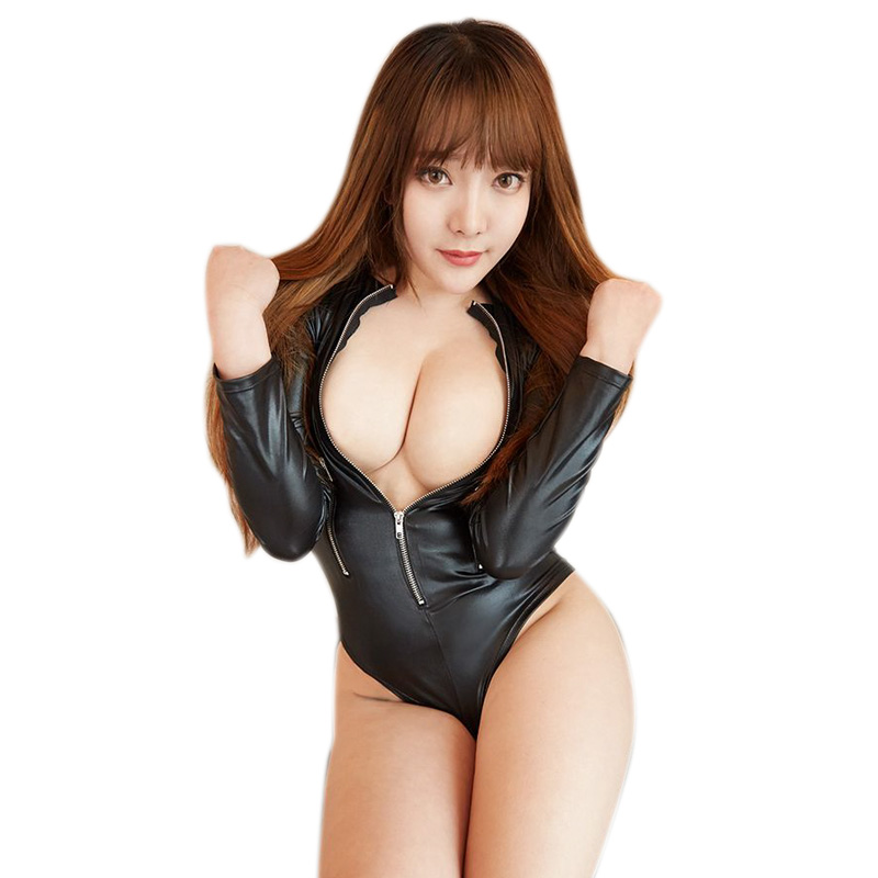 United 5 Color New Hot Sexy Women Wetlook Leather Latex Teddy Catsuit Hollow Out Open Bust Bondage Bodysuit Fetish Swimsuit Underwear Luggage & Bags