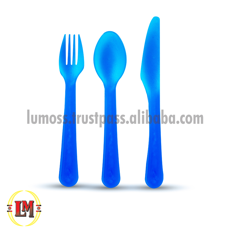 Funky Plastic Flatware/Cutlery Set 12 Piece in Acetate Tube