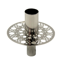 Nickel Plated Iron Round Designer Candle Stand Holder