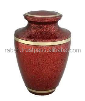Pink colored urn