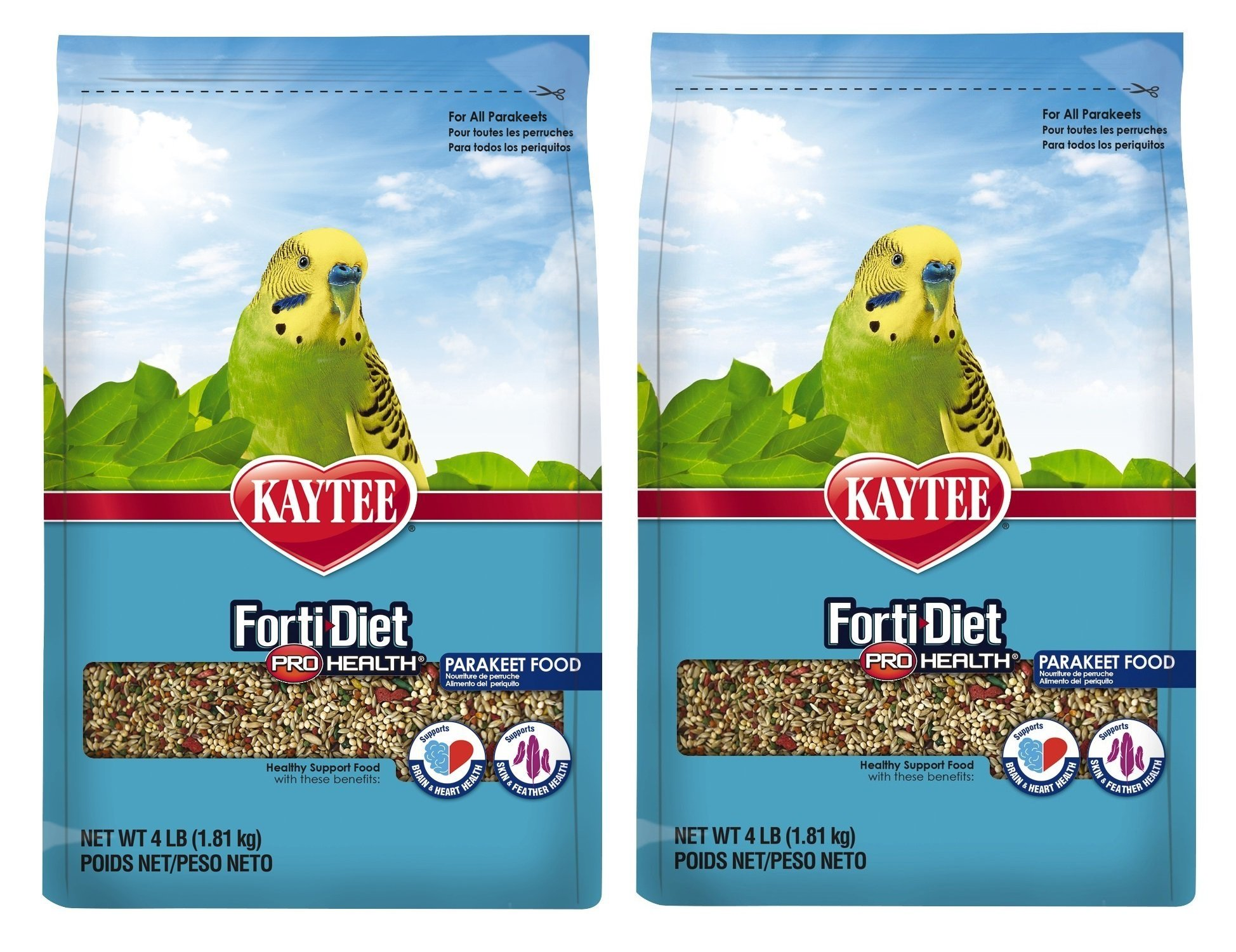 Kaytee Forti-Diet Pro Health Feather Parakeet Food 4lb
