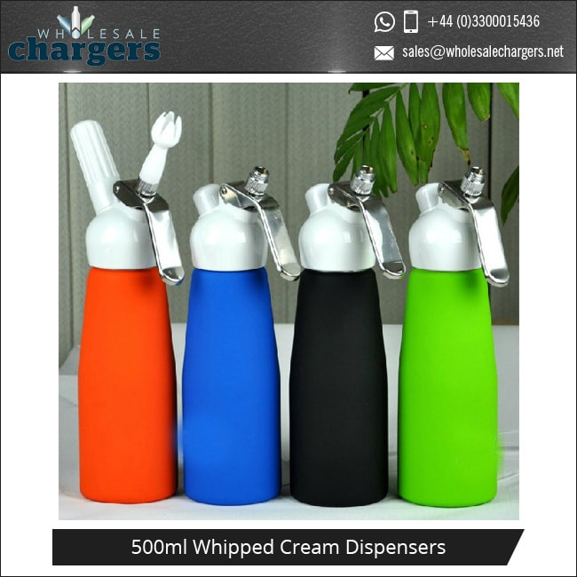 White Plastic Head 500ml Whipped Cream Dispensers