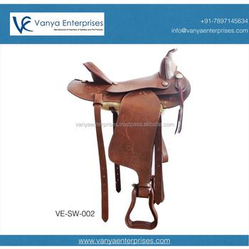 Western Leather Saddle With Embossed Flower Work - Buy Cheap Western  Saddles,Western Wholesale Saddles,Leather Horse Saddle Product on  Alibaba com