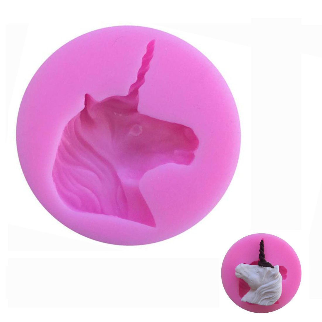 WJSYSHOP Unicorn Shape Silicone Chocolate Fondant Biscuit Mold Cake Decorating Baking Mould - Unicorn