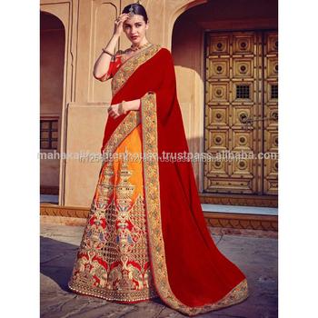 f2ca1f080b Exclusive Heavy Designer Indian Ethnic Wear Chennai Silk Pedding Lehenga  Wedding Wear Half and Half Ghagra