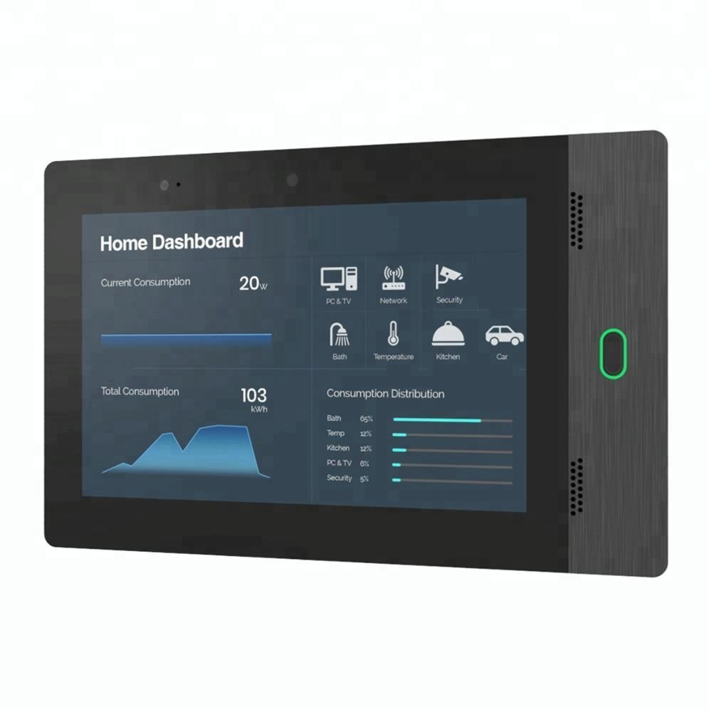 Smart home automation security equipment and services use wall mount android 6.0 POE <strong>tablet</strong>