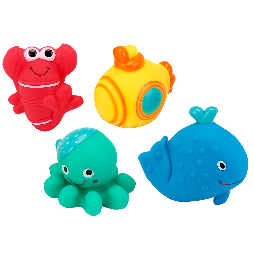 Baby Tub Town Bath Toy Silicone Bath Toys Catch Fish Squirting Bath ...