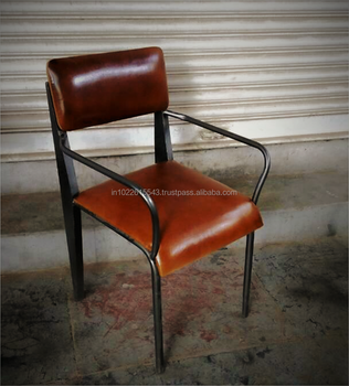 Fine Industrial Tan Leather Restaurant Chair With Metal Legs View Dining Leather Chairs Garud Enterprises Product Details From Garud Enterprises India Unemploymentrelief Wooden Chair Designs For Living Room Unemploymentrelieforg