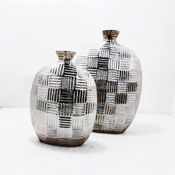 High Quality Aluminium Flower Vases Metal Flower Vases View Large