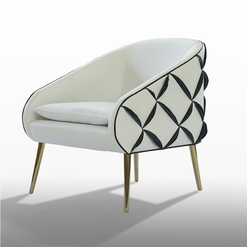 Luxury Design Bedroom Black Steel White Leather Single Sofa Chair - Buy  Steel Chair,Single Sofa Chair,Bedroom Sofa Chair Product on Alibaba.com