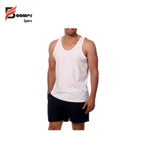 Men New Style White Color Tank top , Gym Wear , Bodybuilding Men Customized Color Tank Top