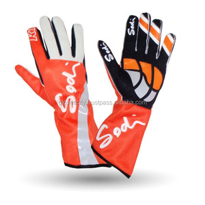 Classic Style Silicone Print Kart Racing Gloves,Stylish Fly Gloves for Men's