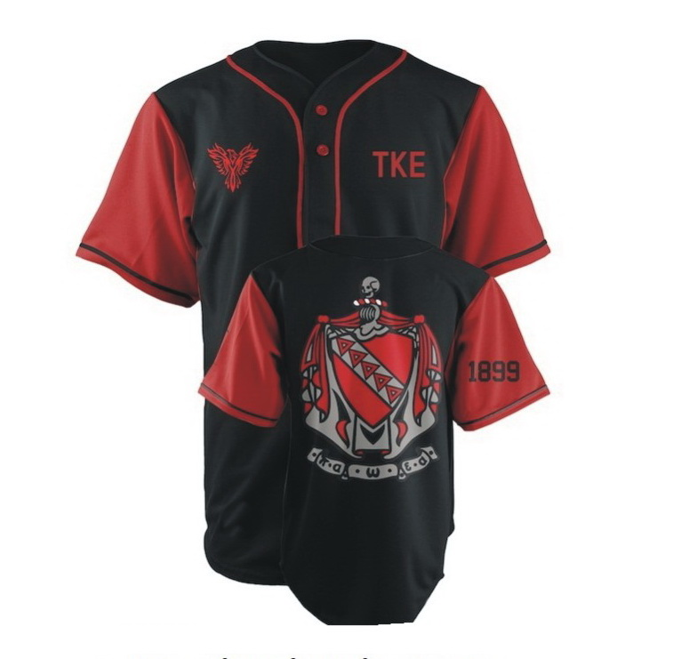 Custom volledig sublimatie honkbal jerseys/heren baseball tops