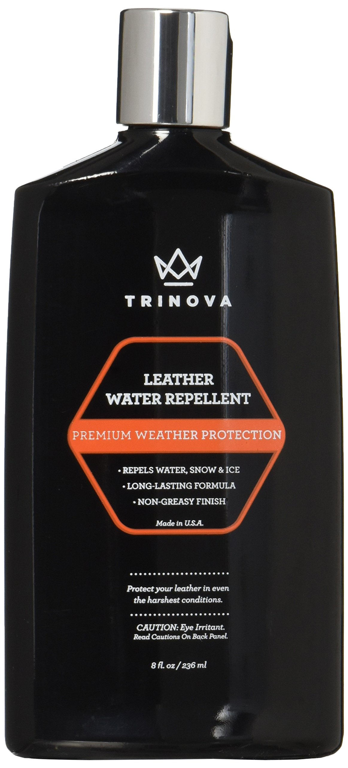 Leather Water Repellent & Protectant – Snow and Waterproofing Treatment for Shoes, Jackets – Rain & Weather Protectant Coating - 8 OZ - TriNova