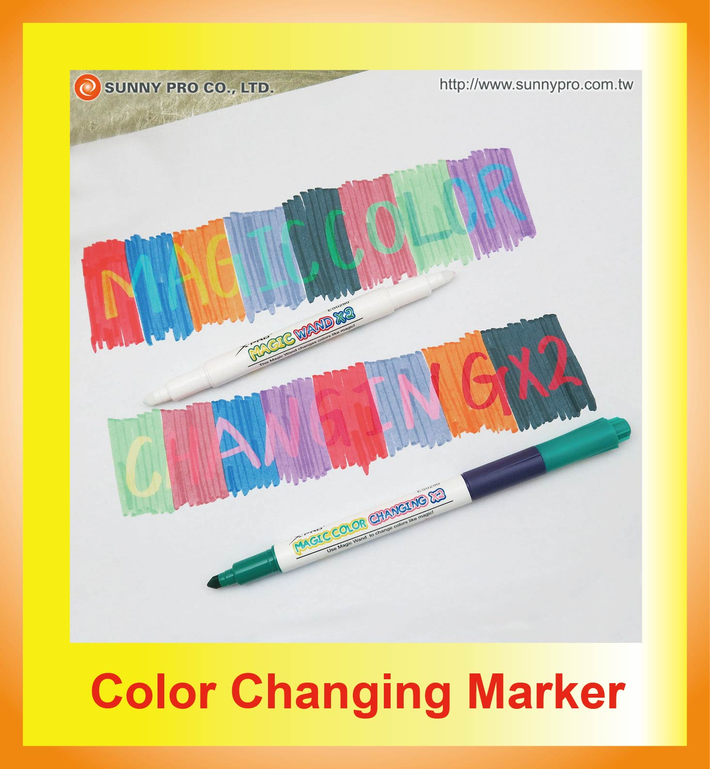 Color Changing Magic Marker- Sunny Pro Co., Ltd – Marker Pen