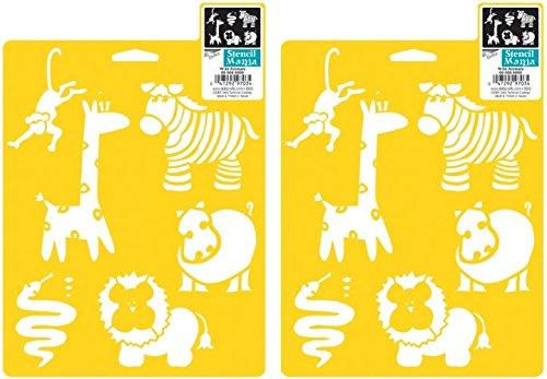Delta Creative Stencil Mania Stencils, 7 by 10-Inch, SM97-0790 Wild Animals (3 Pack)