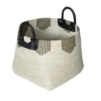 High quality best selling eco-friendly two tones bamboo weaving basket/ fruit basket/ flower basket from Vietnam