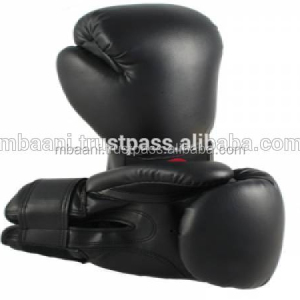 Professional Boxing Gloves in Black Leather
