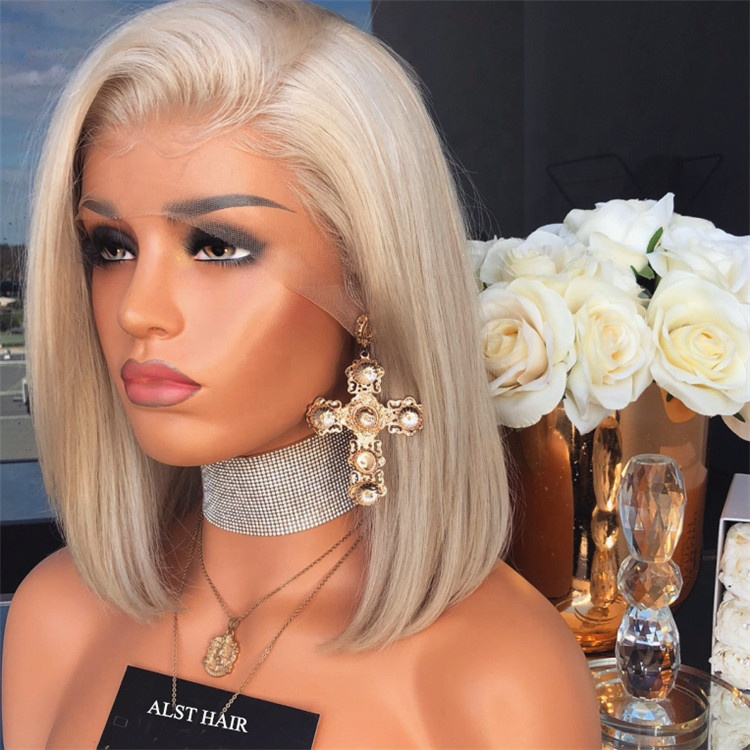 Hot Selling Pre Plucked Natural Hairline Short Cut Blonde 60 Platinum Bob Wigs For Women Buy Platinum Bob Wigs For Womenplatinum Bob Wigplatinum