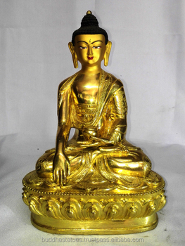 8 shakyamuni buddha statues fine quaity full gold plated statue