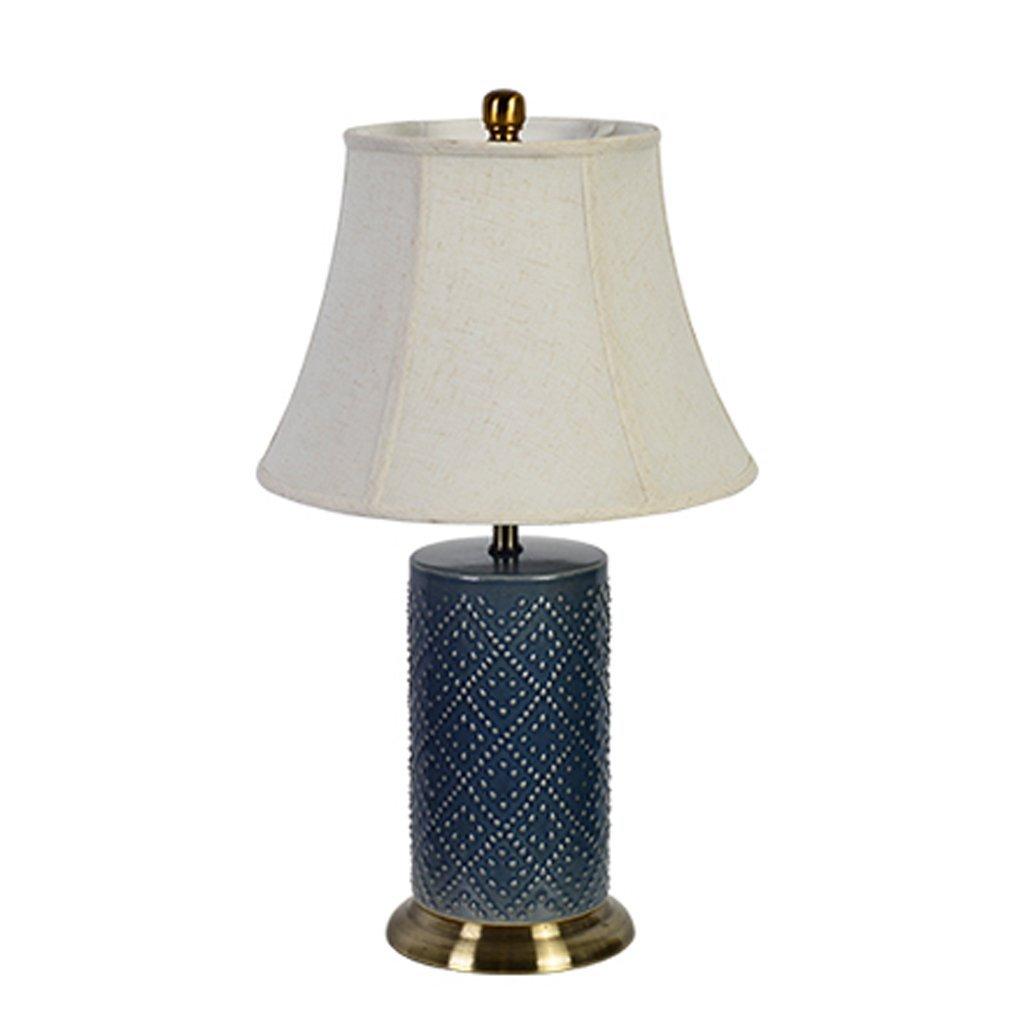 WENBO HOME- High-end Ceramics Table Lamp Bedside Lamp Bedroom Light -E27 40W 1 -Desktop lamp ( Color : 2 )