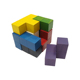 2018 GD NEW PRODUCT SOMA CUBE 9x9 cm Multi-color 3D Wooden Soma Puzzle Brain Teaser IQ Mind Wood Tetris Cube Puzzles Game