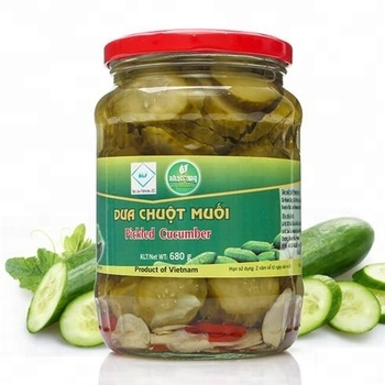 VIETNAMESE RELIABLE SUPPLIER FOR CHOICE QUALITY FOOD OF PICKLED CUCUMBERS