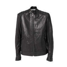 100% gemaakt in Italië <span class=keywords><strong>biker</strong></span> style real leather heren jas