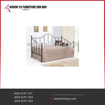 Latest Showcase Furniture Design Catalog Jolin Day Metal Bed For Bedroom Stainless Steel