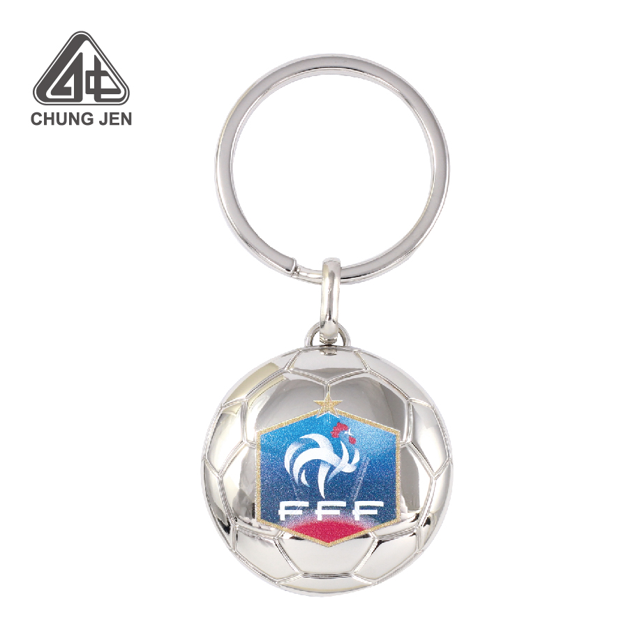 Customized Sports Soccer Ball Keyring with Logo