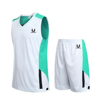 Wholesale Sublimation Printing New Design white and blue Basketball Uniform