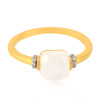 18kt Yellow Gold Diamond Moonstone Rings Gemstone Jewelry