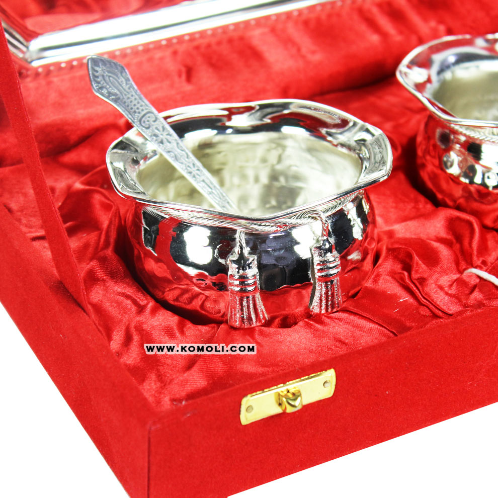Hot Handi Tie Bowl Set Silver Plated Indian Wedding Return Gift Wholesale  Diwali Gifts - Buy Indian Wedding Return Gift,Indian Return Gift,Wholesale