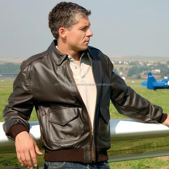 Leder jacke pilot